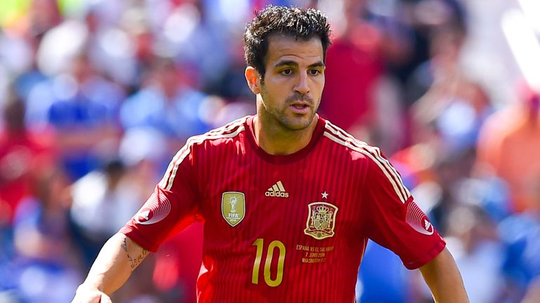 Cesc Fabregas of Spain