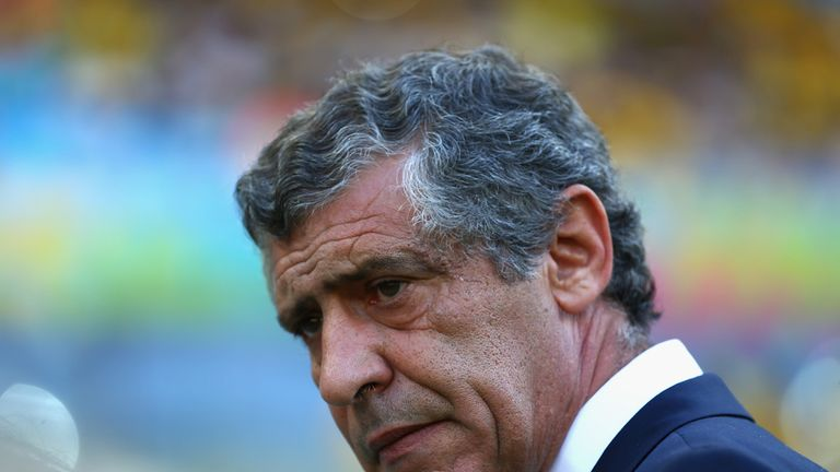 BELO HORIZONTE, BRAZIL - JUNE 14: Head coach Fernando Santos of Greece looks on during the 2014 FIFA World Cup Brazil Group C match between Colombia and Gr