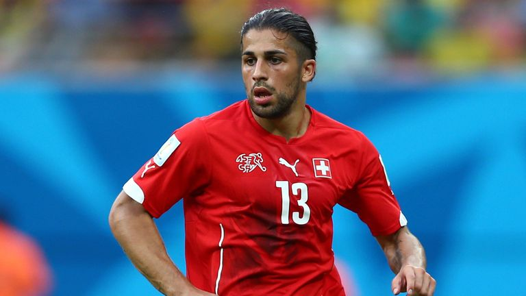 Ricardo Rodriguez of Switzerland controls the ball during the 2014 FIFA World Cup Brazil Group E match between Honduras and Switzerland