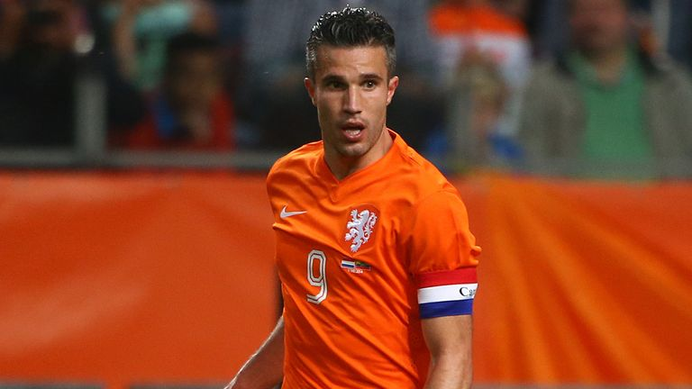 Robin van Persie was capped 102 times by Holland