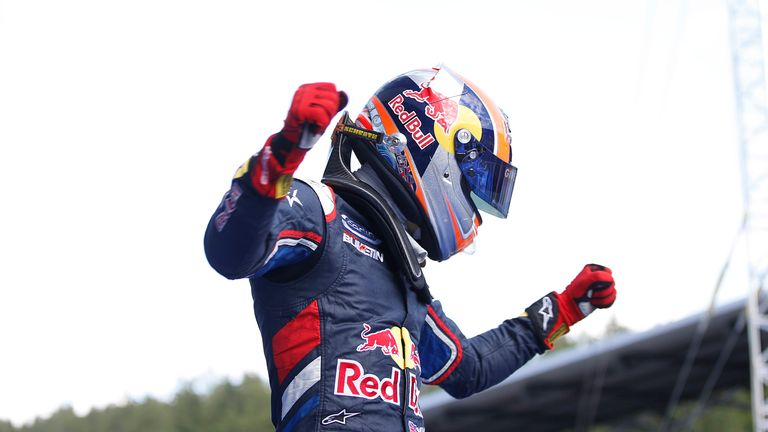 Alex Lynn celebrates victory at Red Bull's home circuit in Austria (GP3 Series Media)