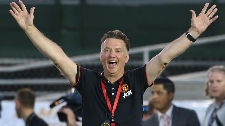 Louis van Gaal was delighted how his Manchester United players coped with a new formation, in their 7-0 victory over LA Galaxy in Pasadena