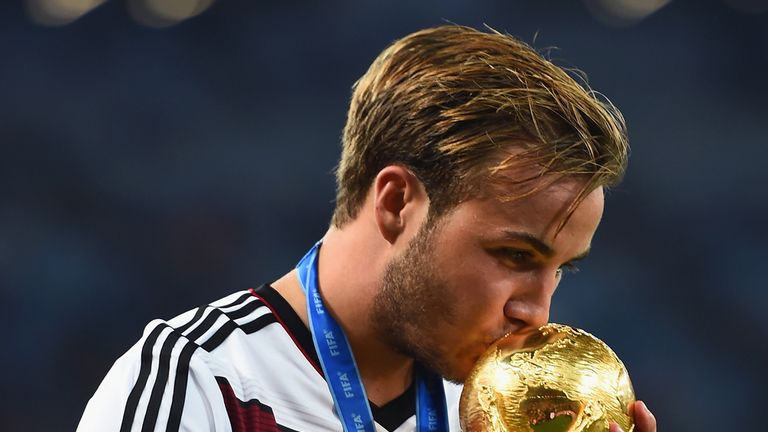 Gotze scored the winner in Germany's extra-time win over Argentina in the 2014 World Cup final