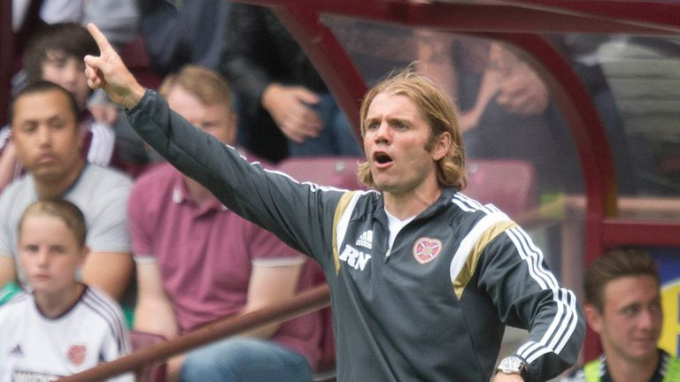 Robbie Neilson: Claims award in his first month at Tynecastle