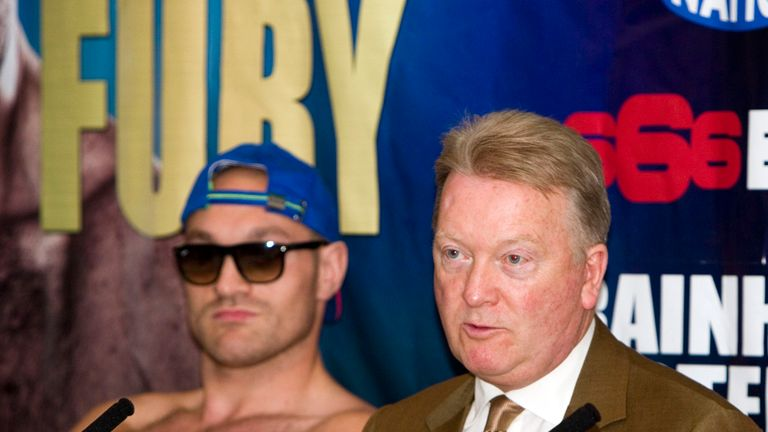 Tyson Fury and promoter Frank Warren