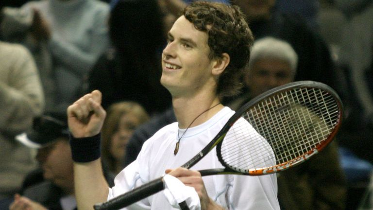Murray sealed his first ATP title early in 2006