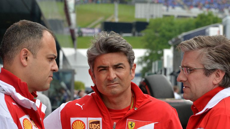 Diego Ioverno Ferrari Operations Director, Marco Mattiacci Team Principal and Pat Fry Technical Director