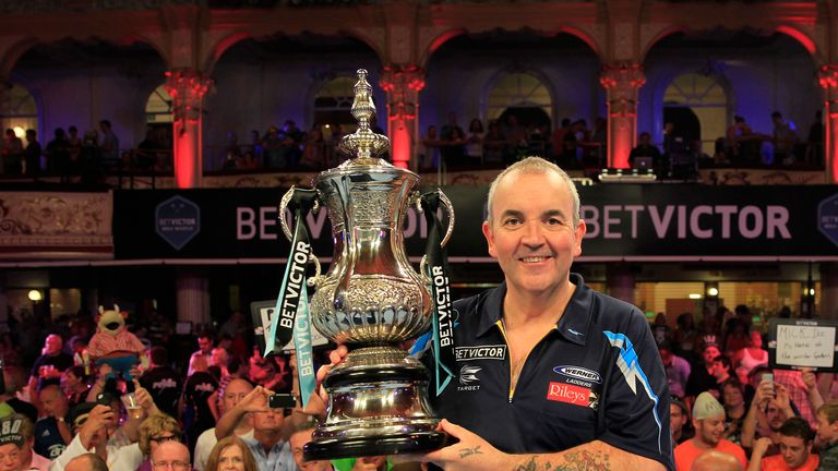 Phil Taylor will be looking to add to his 15 titles in Blackpool