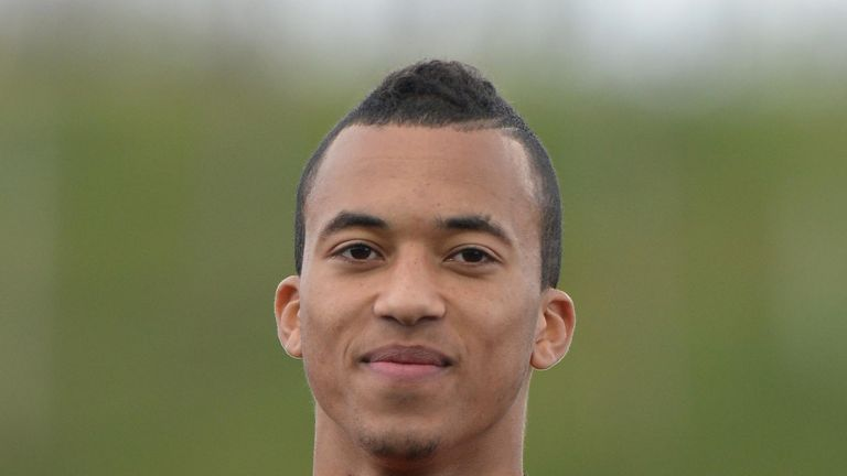 David Henen, playing for Belgium in an under-18 international, is set to join Everton from Anderlecht