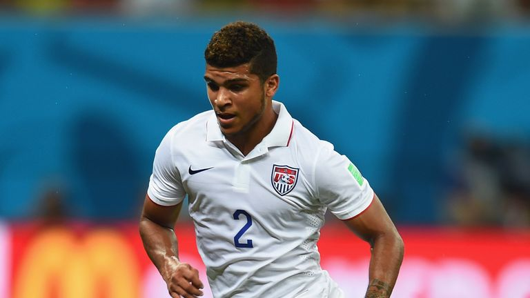 DeAndre Yedlin of the United States controls the ball during the 2014 FIFA World Cup Brazil Group G match between the United States and Portugal