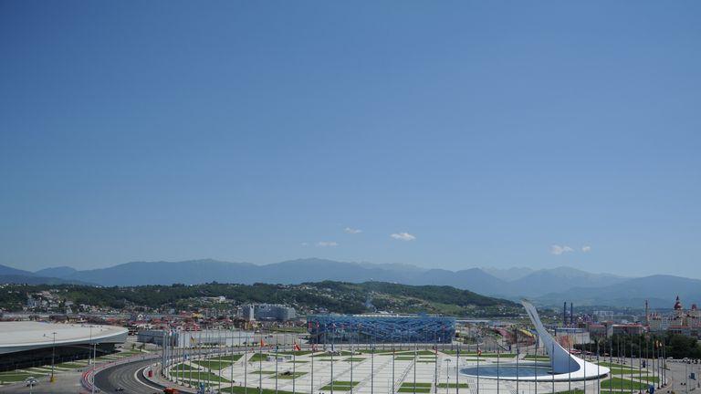 The Sochi Autodrom starts to take shape