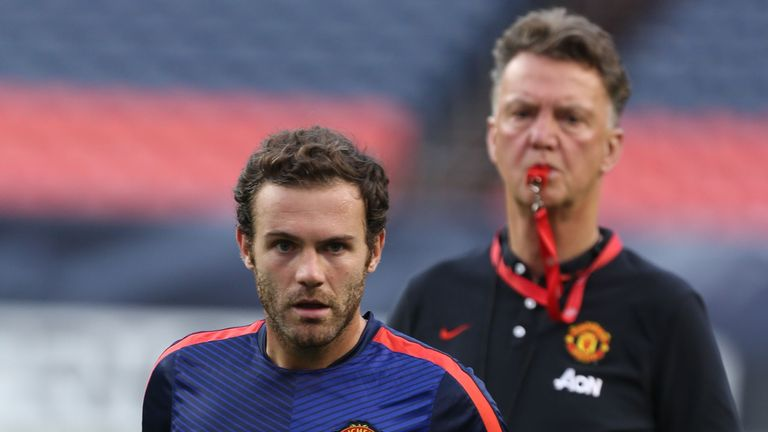 Juan Mata of Manchester United in action during a training session as part of their pre-season tour of the United States