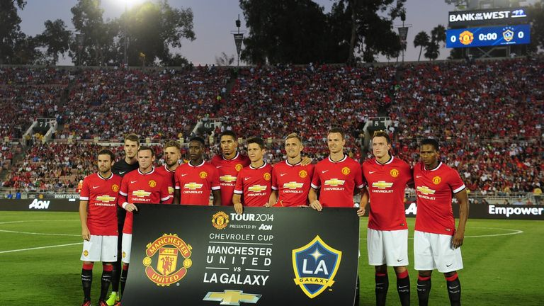 Manchester United's starting line-up against Los Angeles Galaxy, friendly
