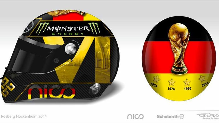 Nico Rosberg's original German GP crash helmet design
