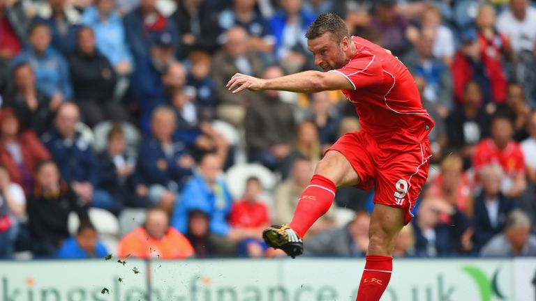 Rickie Lambert: Liverpool striker lets fly against Preston at Deepdale