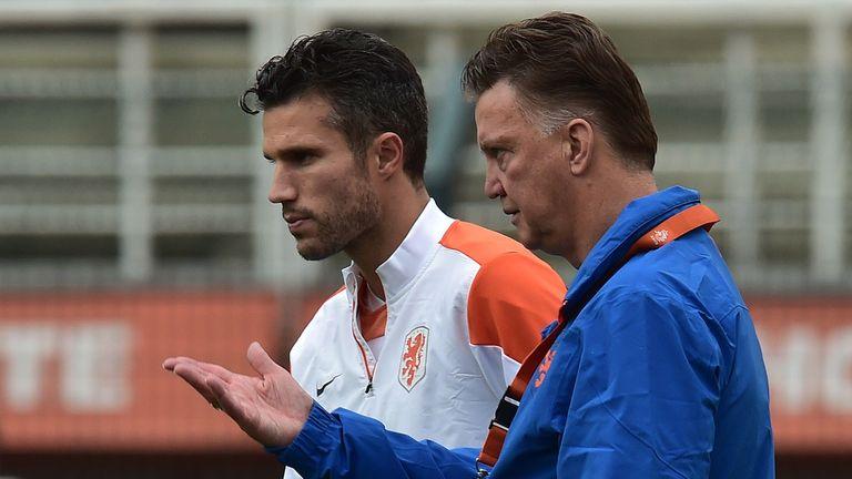 Robin van Persie, Louis van Gaal, Holland training, World Cup 2014