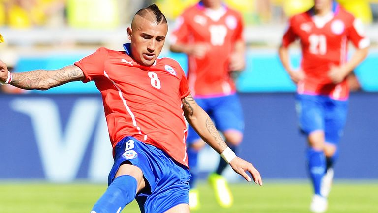 Arturo Vidal: Chile midfielder has been linked with a move to Manchester United