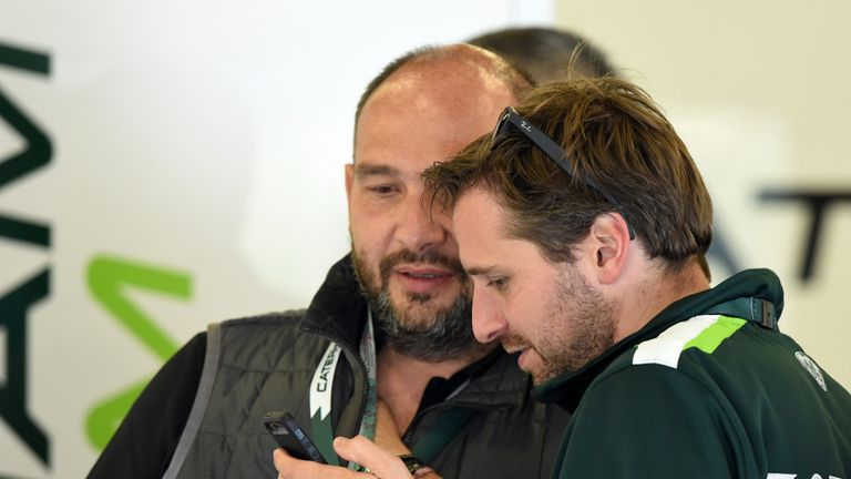 Albers with Caterham advisor - and his former team boss at Midland/Spyker - Collin Kolles