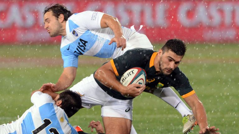 Damian de Allende: made a winning debut for South Africa