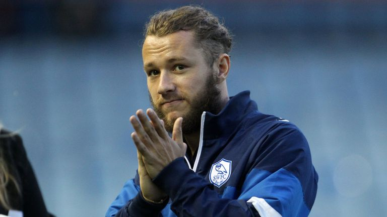 Stevie May: Salutes fans after first goal for the club