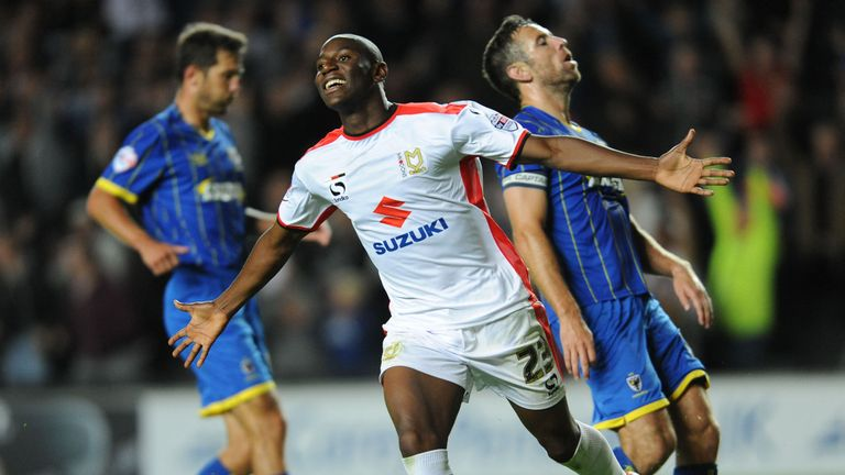 Benik Afobe: Celebrates his goal