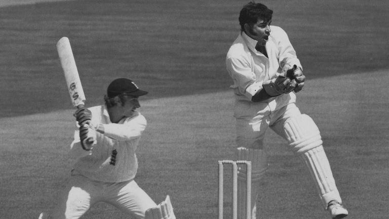 David Lloyd cuts Bedi to the boundary for four