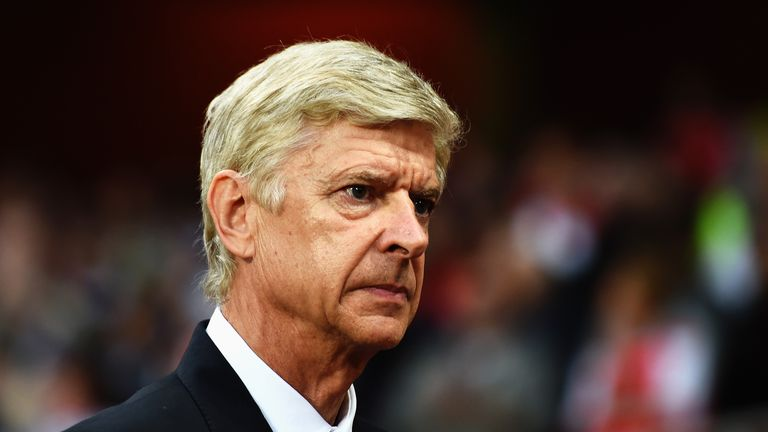 LONDON, ENGLAND - AUGUST 27: Arsene Wenger, manager of Arsenal looks on before the UEFA Champions League Qualifier 2nd leg match between Arsenal and Besikt