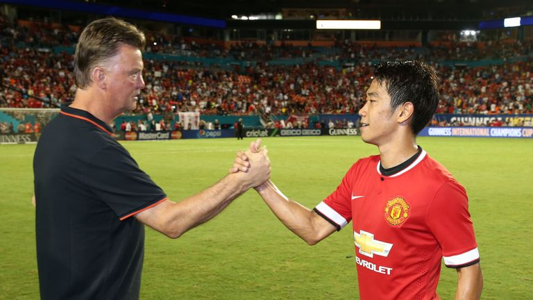 Louis van Gaal, Shinji Kagawa, International Champions Cup final, Manchester United v Liverpool, celeb, final