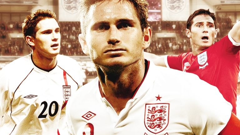 Frank Lampard scored 29 goals during his distinguished England career