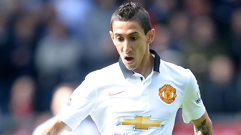 Manchester United's Angel Di Maria during the Barclays Premier League match at Turf Moor, Burnley.