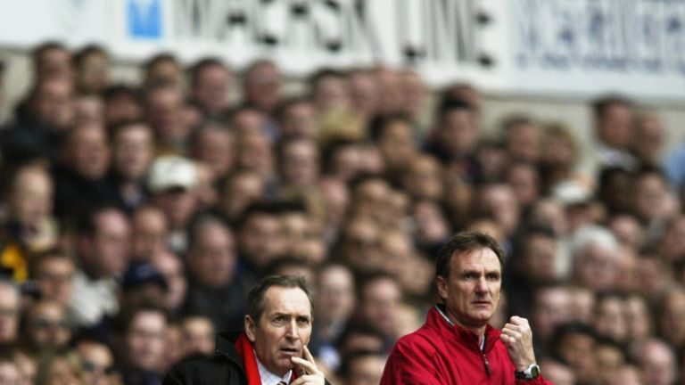 Houllier led Liverpool to a 12-game unbeaten start to the 2002/03 campaign