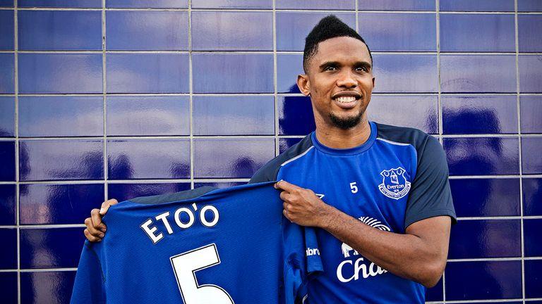 Everton's new signing Samuel Eto'o