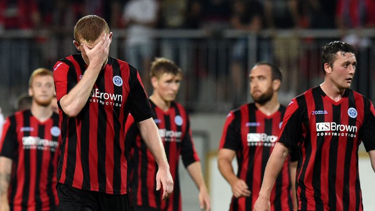 St Johnstone are out of Europa League despite a draw in Slovakia