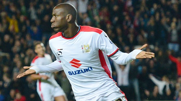 Afobe was prolific with the MK Dons last season before joining Wolves in January
