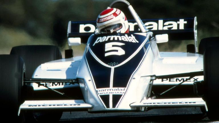 Nelson Piquet driving for Brabham at the 1981 Spanish GP