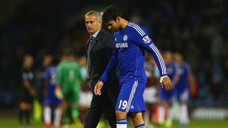 Jose Mourinho: Chelsea boss will be without leading goalscorer Diego Costa for Wednesday night's game against Tottenham