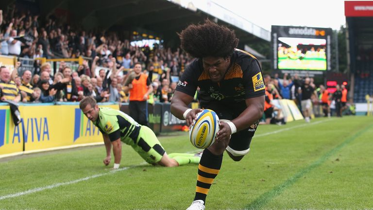 Ashley Johnson: Wasps flanker touched down for opening try
