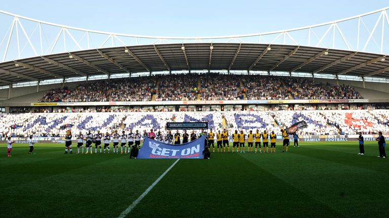 Bolton fans show their support for Fabrice Muamba