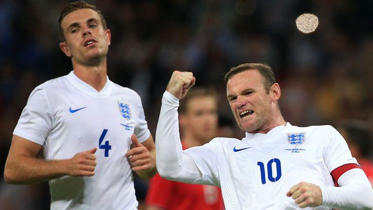 Rooney: Celebrates his goal