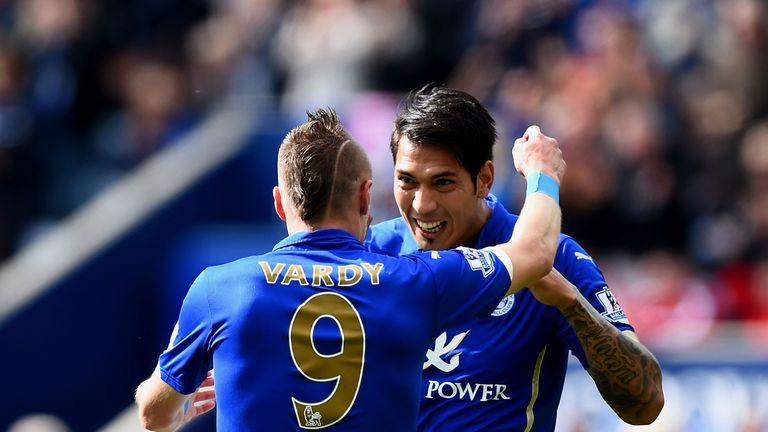 Leonardo Ulloa and Jamie Vardy featured regularly for Leicester last season