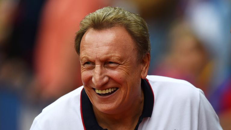 LONDON, ENGLAND - SEPTEMBER 27:  Manager Neil Warnock of Crystal Palace smiles before the Barclays Premier League match between Crystal Palace and Leiceste