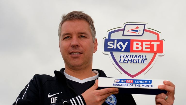 Sky Bet League One Manager of the Month for August 2014 Darren Ferguson of Peterborough