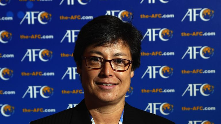 KUALA LUMPUR, MALAYSIA - MAY 02: Ms Moya Dodd of Australia poses after she was elected Vice -President of AFC during the 2013 AFC Congress at the Mandarin