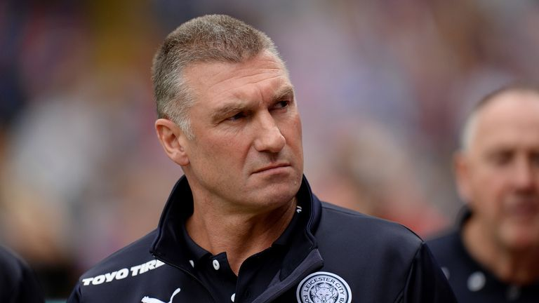 Leicester City Manager Nigel Pearson during the Barclays Premier League match at Selhurst Park, London.