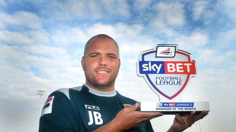 Morecambe Boss Jim Bentley Wins the Sky Bet League Two Manager of the Month award for August 2014
