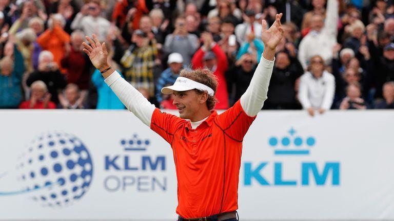 Joost Luiten celebrates victory last year