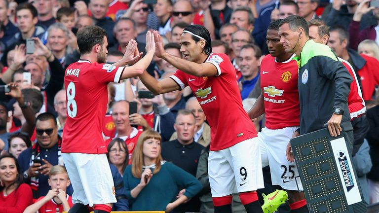 Radamel Falcao: Introduced off the bench for his Manchester United debut