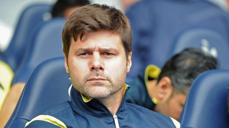 Tottenham Hotspur's Argentinian Head Coach Mauricio Pochettino looks on before during the English Premier League football match between Tottenham Hotspur a