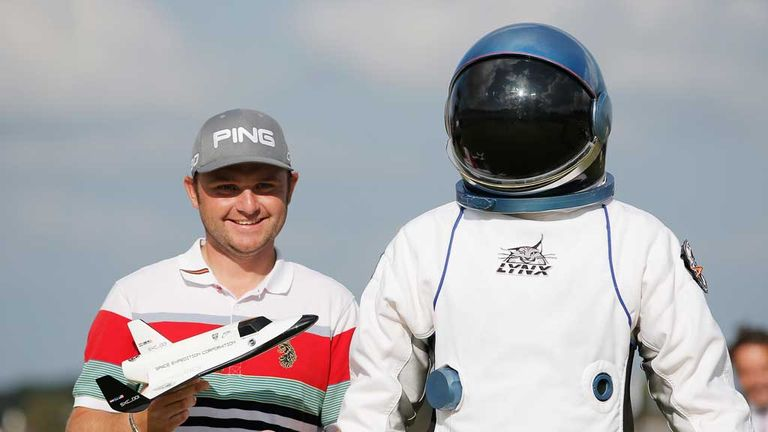 Andy Sullivan has won a trip into space after making a hole-in-one on the 15th at the KLM Open.