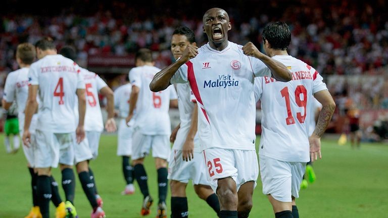 Stephane Mbia: Celebrates his goal